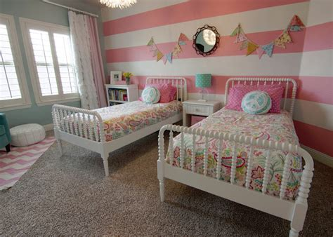 cute girls and teen rooms design dazzle pink striped girls room design dazzle