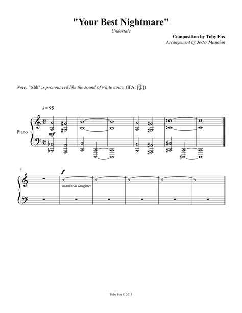"""Undertale - 079 """"Your Best Nightmare"""" sheet music for"""