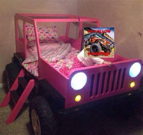 pink kids jeep jeep bed pink stuff for charissa pinterest