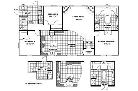 manufactured home floor plan 2009 clayton southern