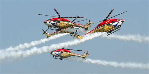 helicopter scow sarang display team at bahrain air show