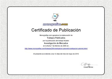 formato de un certificado certificados de publicaci 243 n online nueva funcionalidad