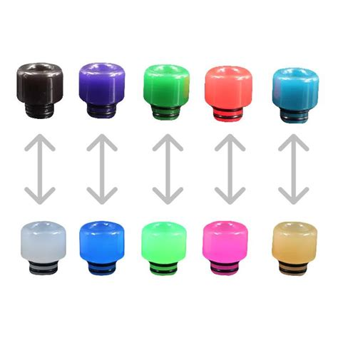 Sale Silicone Rubber Drip Tip Vaporizer Multi Color buy color changing 510 drip tip at vapes for only 4 99