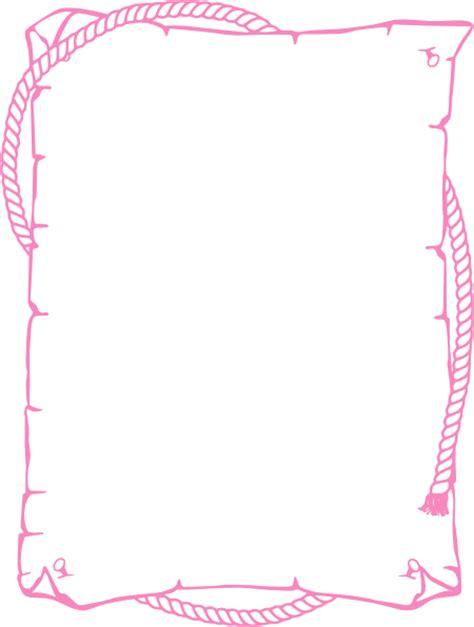 Frame Foto Frame 4r Fancy rope border pink clip at clker vector clip