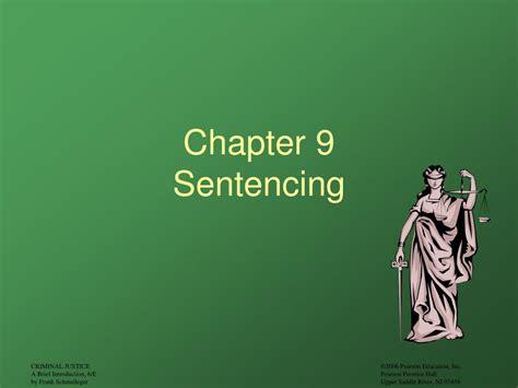 Senter Cing L ppt chapter 9 sentencing powerpoint presentation id 252429