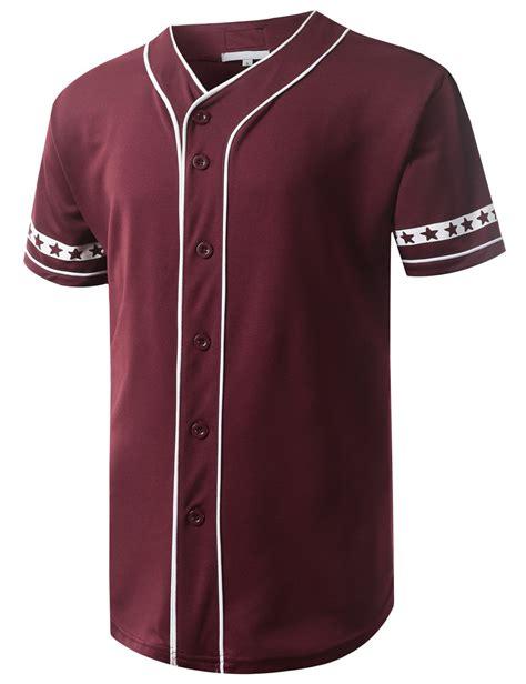 Atasan Kelelawar Jersey 7 Maroon flag button baseball jersey urbancrews