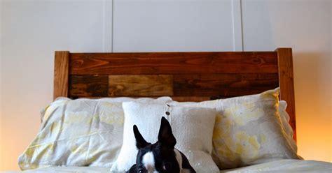 reclaimed wood style headboard hometalk