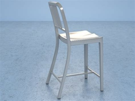 navy counter stool 3d model emeco