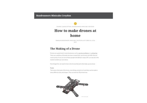 how to make drones at home