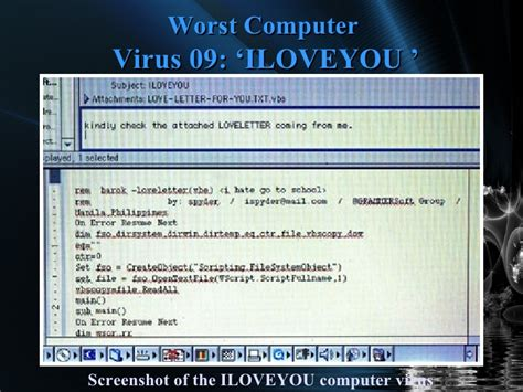 7 Deadliest Computer Viruses by 10 Worst Computer Viruses Of All Time