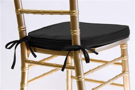 Chiavari Chair Cushions by Black Chiavari Cushion