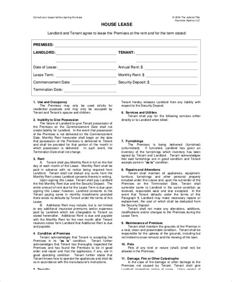 House Lease Template 7 Free Word Pdf Documents Download Free Premium Templates House Lease Contract Template