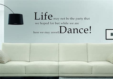 Black And Gold Bedroom Ideas life dance text quotes wall stickers adhesive wall sticker