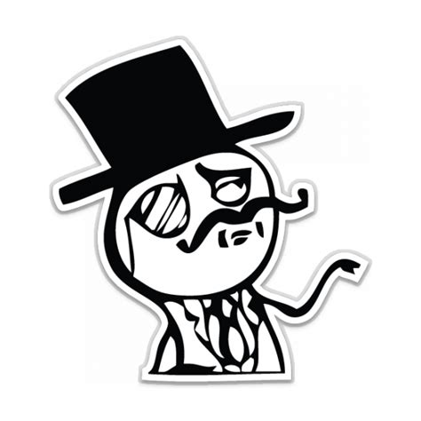 Meme Stickers - gentleman meme shaped sticker unixstickers