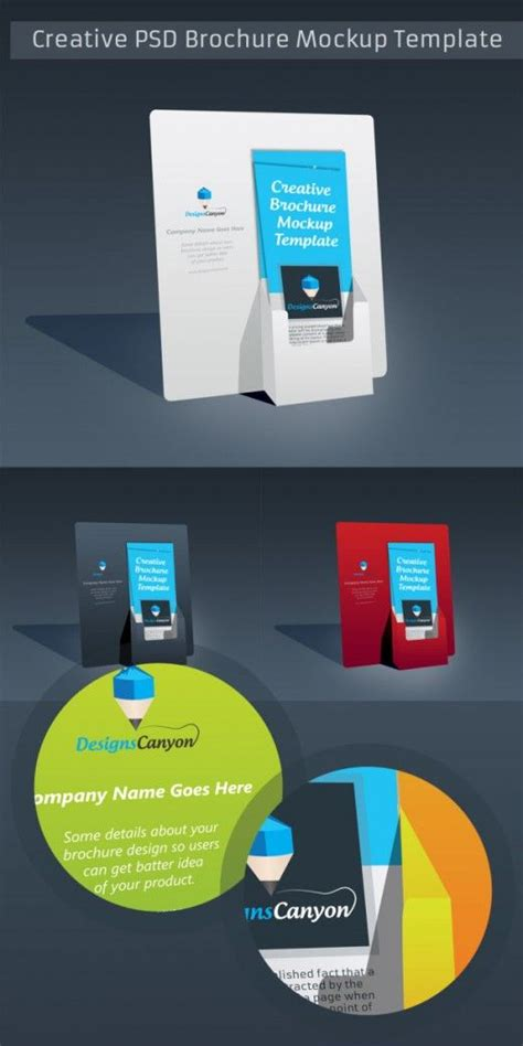 material design mockup ai psd brochure holder mockup template free download