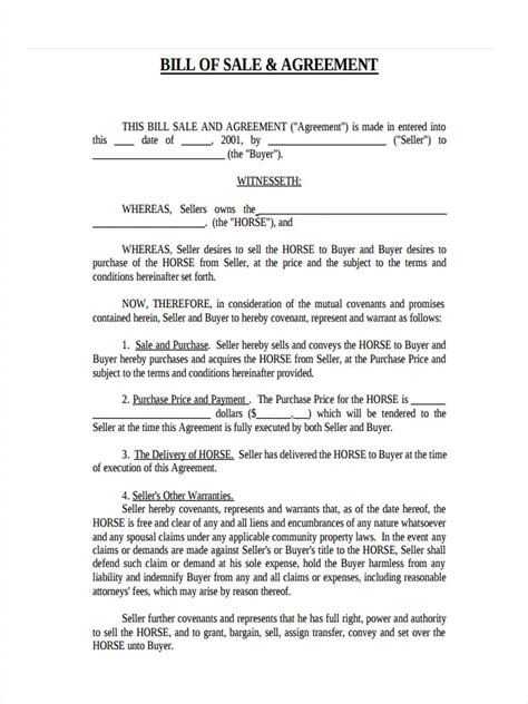 sle invoice of works contract real estate bill of sale form 7 free documents in word pdf