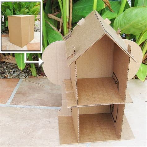 pattern box house sale cardboard dollhouse pdf pattern recycle cardboard boxes