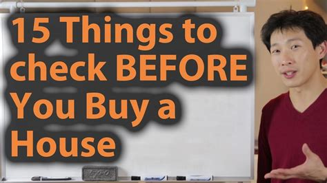 what to inspect when buying a house 15 things to check before you buy a house youtube