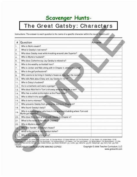 searching for symbolism in the great gatsby worksheet 17 best images about the great gatsby on pinterest jay