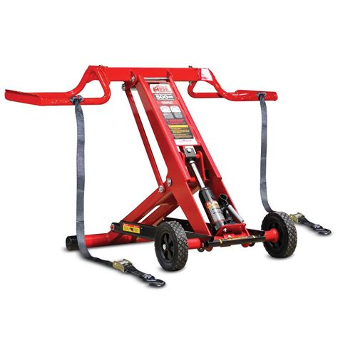 garden tractor lift table mojack hdl 500 lawn mower lift 45501 the home depot
