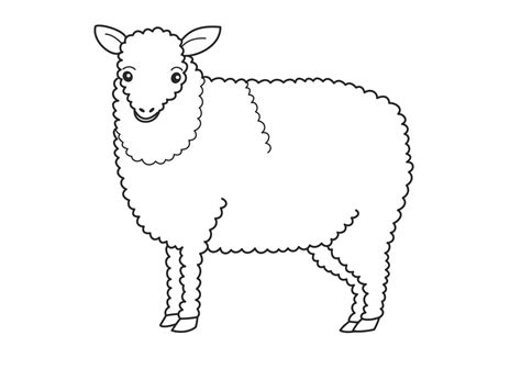 face of sheep coloring pages