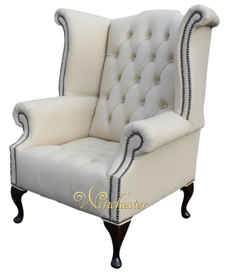 High Back Wing Chair Chesterfield Buttoned High Back Wing Chair