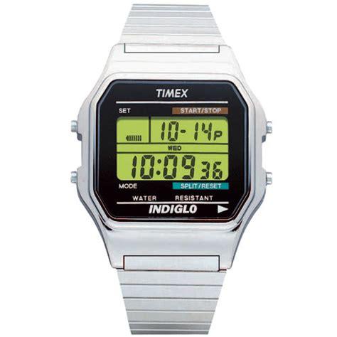 timex s classic digital dress silver tone
