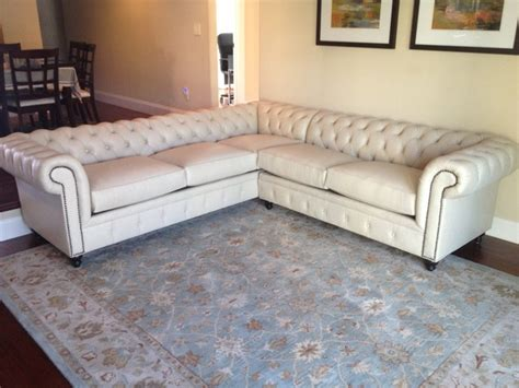 chesterfield sectional sofa kenzie style aka nellie chesterfield sofa or