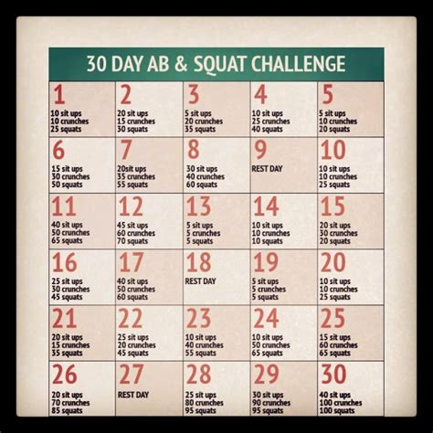 squat challenge and ab challenge 30 day ab and squat challenge trusper