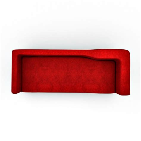 top view of a couch apollo modern sofa in elegant red color top view elegant