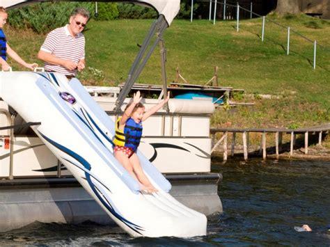 inflatable pontoon boat slide watertrolines rave pontoon boat slide