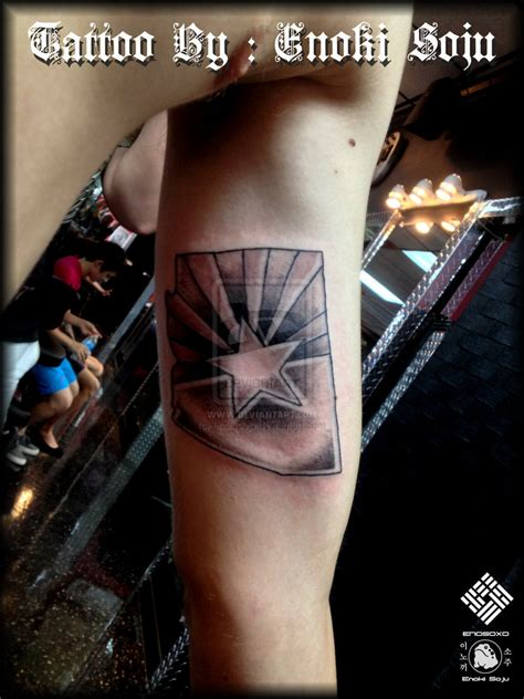 arizona flag tattoo state of arizona flag by enoki soju by enokisoju on