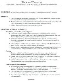 Resume Job Objective by Resume For Project Management Susan Ireland Resumes