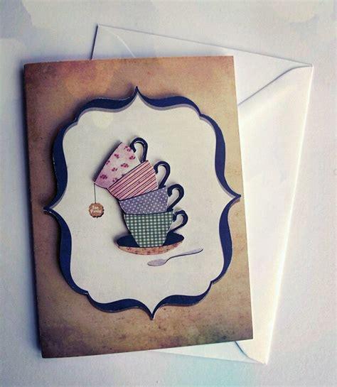 Handmade 3d Cards - tea handmade 3d card via etsy tea for