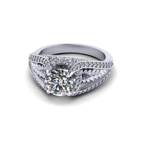 leaf engagement ring jewelry designs