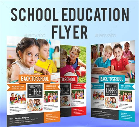 26 Education Flyer Templates Psd Vector Eps Jpg Download Freecreatives Free School Flyer Templates