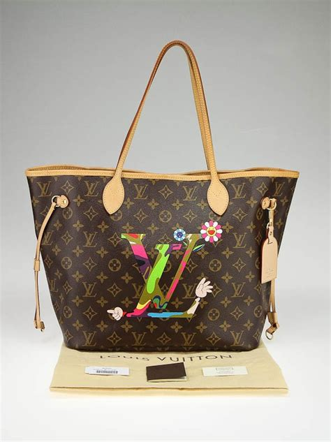 Limited Edition Louis Vuitton Murakami Neverfull by Louis Vuitton Limited Edition Monogram Canvas Neverfull Mm