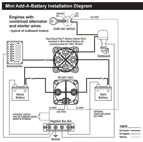 blue sea add a battery wiring diagram blue sea battery