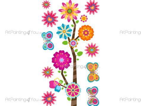 imagenes de flores animadas infantiles vinilos infantiles flores mariposas kit