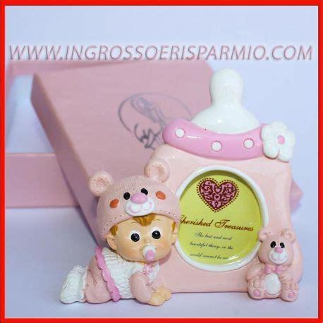acquisto cornici on line portafoto bimba con biberon rosa e orsetto cornici