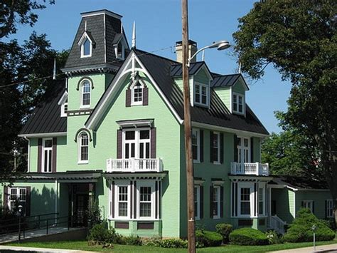 mint green house funky exterior color combinations