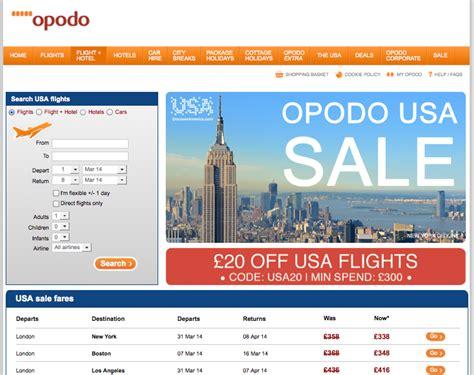 opodo uk discounts  usa flights  deals economy class
