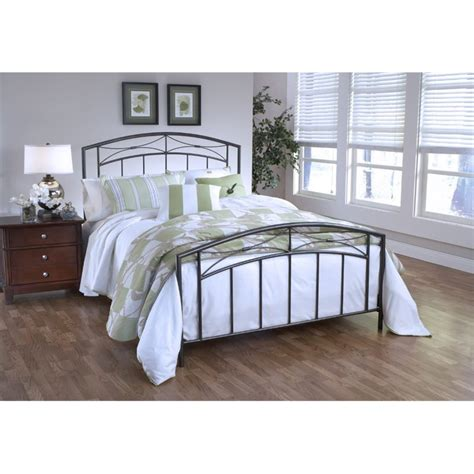 twin spindle bed hillsdale morris twin spindle bed in magnesium pewter