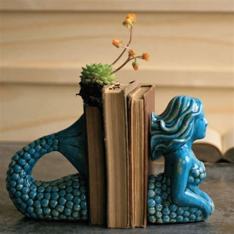 libro brevertons nautical curiosities a mythological aquatic bookends mermaid bookend