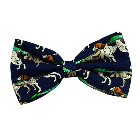 puppy with bow tie pointer gun blue silk bow tie from ties planet uk