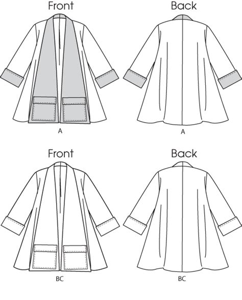 pattern review template butterick 5716 misses coat