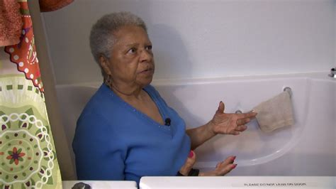 bathtub doesn t drain 90 year old woman gets stuck left to bail out water after