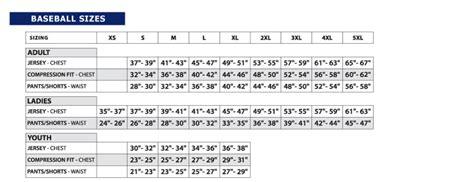 st knits size chart jersey factory