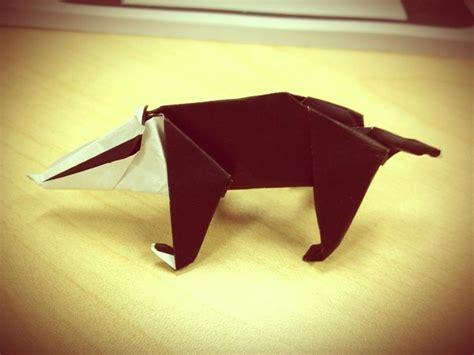 Origami Badger - pin by sian hannagan on crafty