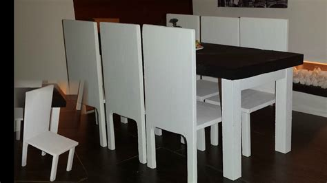 doll dining table diy 1 6 scale doll dining table set
